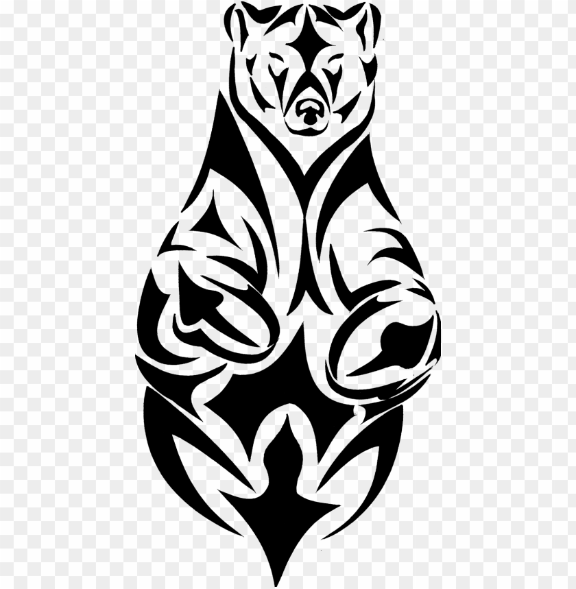 free PNG tribal bear tattoo - bear tribal tattoo PNG image with transparent background PNG images transparent