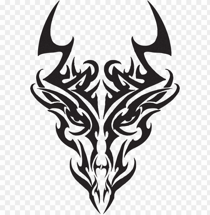 free PNG tribal dragon head tattoos dragon head tr - tribal dragon head tattoos designs PNG image with transparent background PNG images transparent
