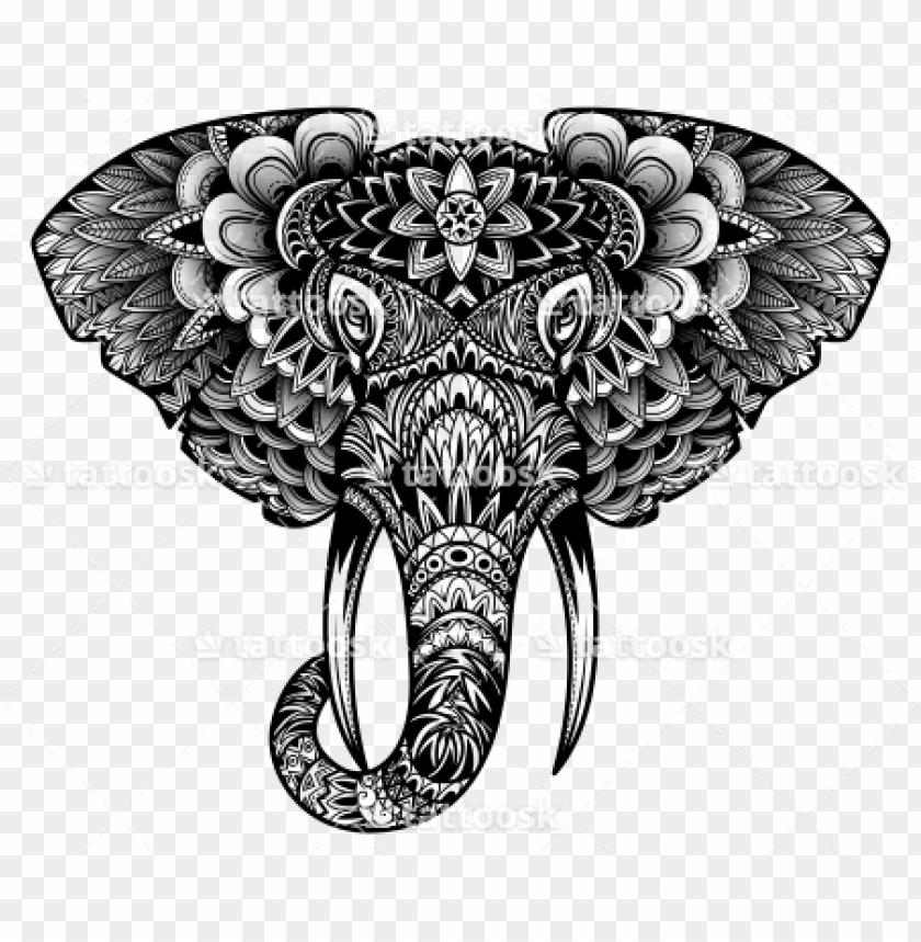 free PNG tribal elephant head tattoo sample PNG image with transparent background PNG images transparent