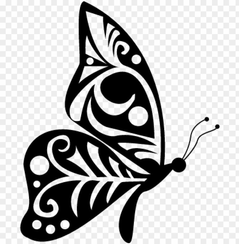 free PNG tribal wings design butterfly side view vector - butterfly side view silhouette PNG image with transparent background PNG images transparent