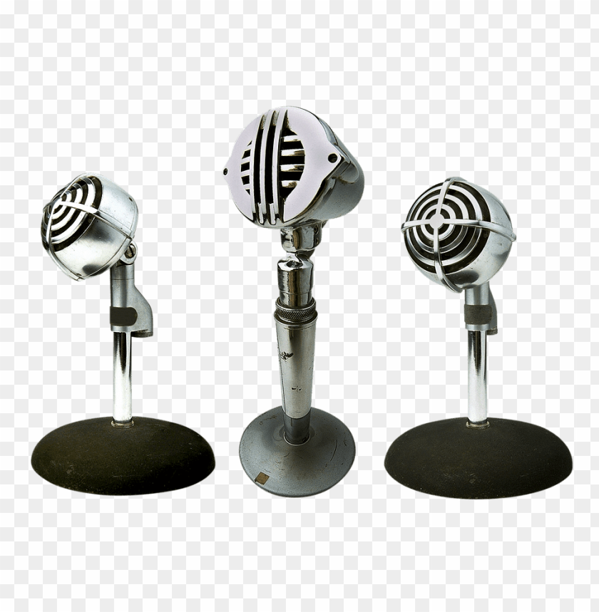 free PNG trio of microphones png images background PNG images transparent