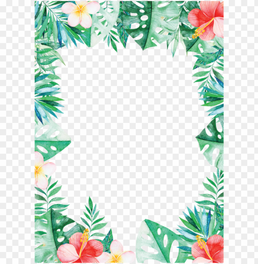 free PNG tropical border, tropical leaves, leaves border png - tropical border PNG image with transparent background PNG images transparent
