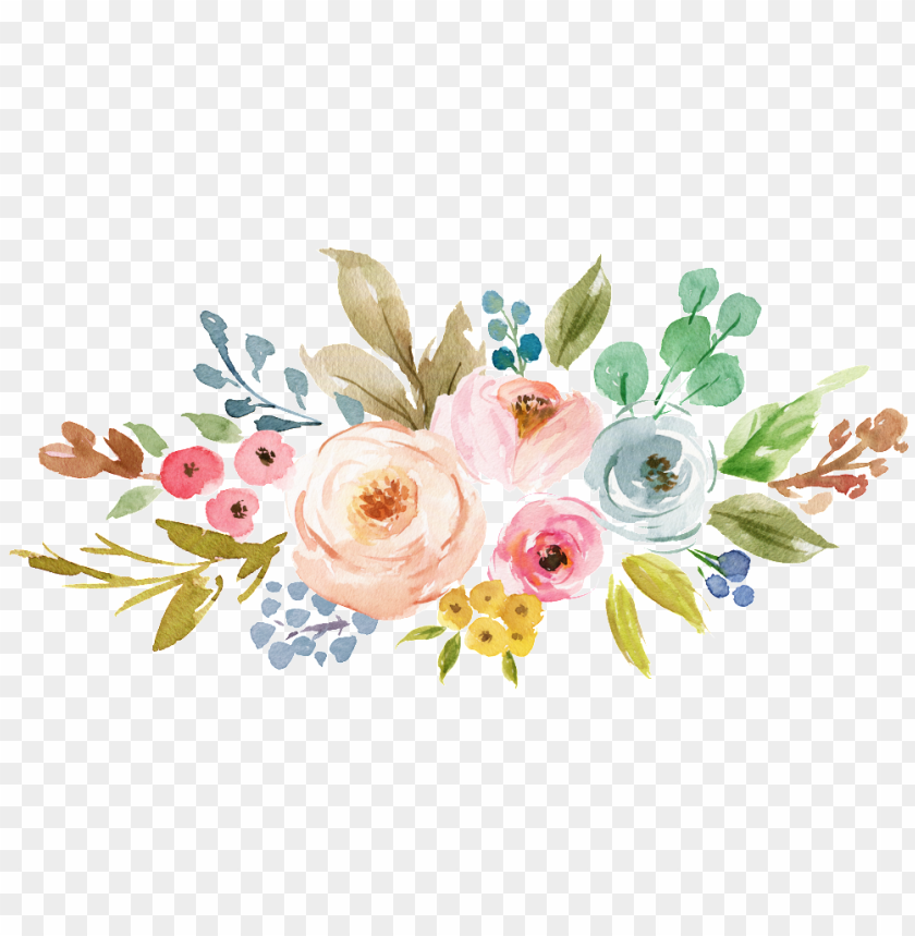 free PNG tropical flower cartoon transparent this backgrounds - watercolor flowers clipart PNG image with transparent background PNG images transparent