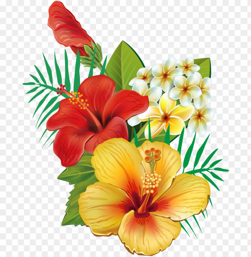 free PNG tropical flower watercolor png clip art royalty free - tropical hawaiian flower PNG image with transparent background PNG images transparent