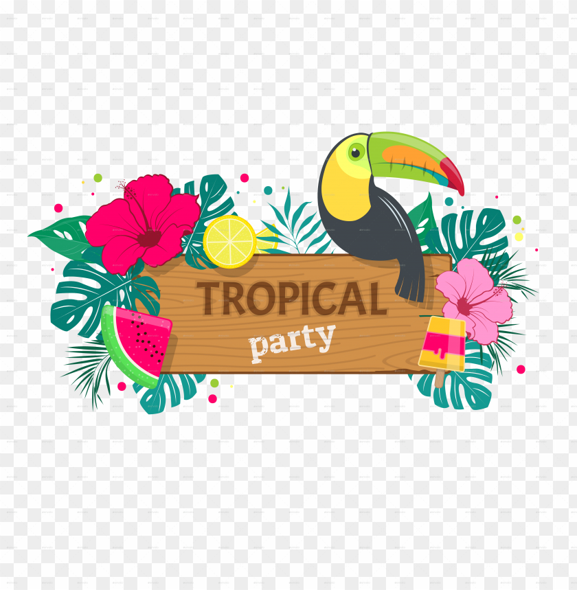 free PNG tropical party picture library library - tropical party PNG image with transparent background PNG images transparent