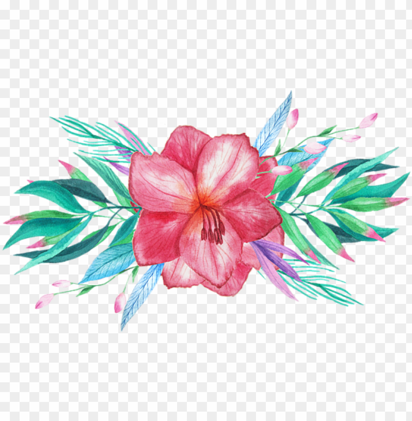 free PNG tropical watercolor png vector freeuse library - tropical flowers tropical watercolor PNG image with transparent background PNG images transparent