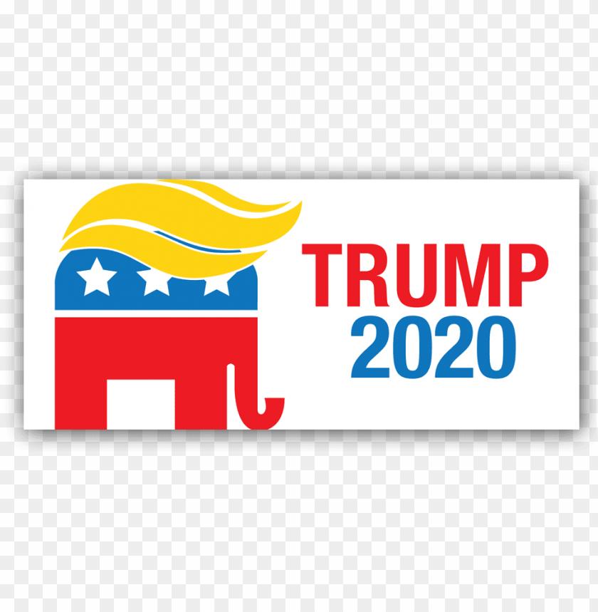 free PNG trump 2020 apparel - trump 2020 bumper sticker PNG image with transparent background PNG images transparent