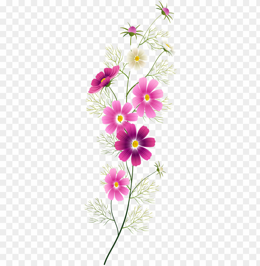 free PNG tubes fleurs thread painting, painting flowers, one - paint flowers tubes PNG image with transparent background PNG images transparent
