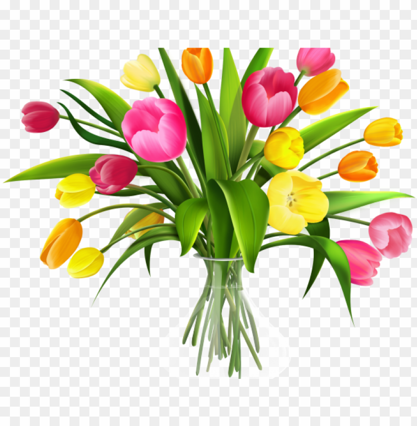 free PNG tulip clipart bucket flower - transparent background bouquet clipart PNG image with transparent background PNG images transparent