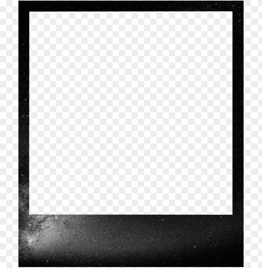 free PNG tumblr 1280 polaroid template - monochrome PNG image with transparent background PNG images transparent