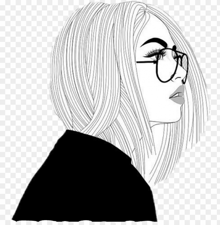 free PNG tumblr girl drawing popularpic - girl drawi PNG image with transparent background PNG images transparent