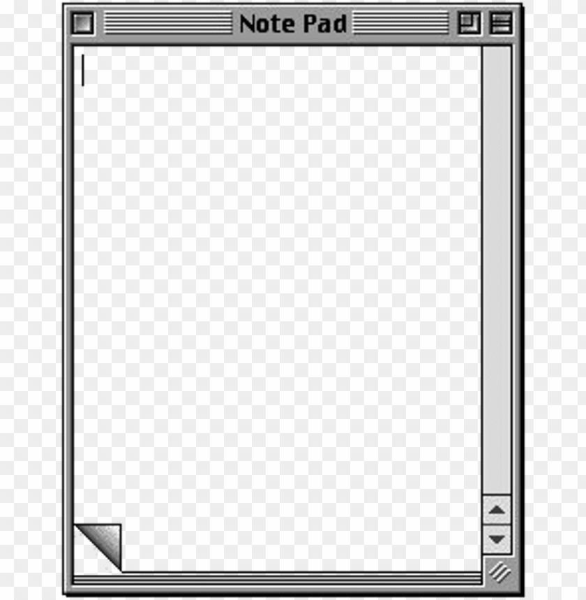 Tumblr Png Frame Notes Windows Png Notepad Png Image With Transparent Background Toppng