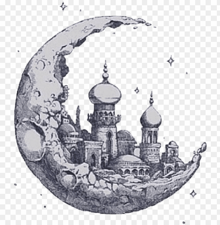 free PNG tumblr transparent moon castlemoon clipart tumblr 640 - art tumblr transparent PNG image with transparent background PNG images transparent