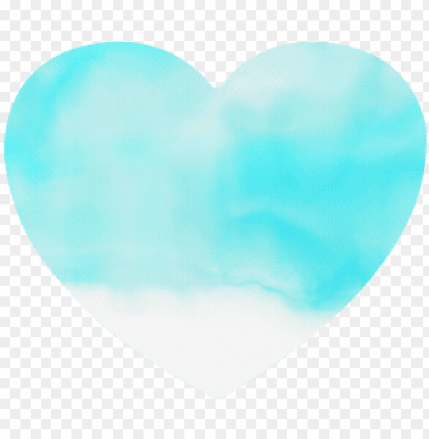 free PNG turquoise bright watercolor abstract heart-shaped mousepad - abstract art PNG image with transparent background PNG images transparent