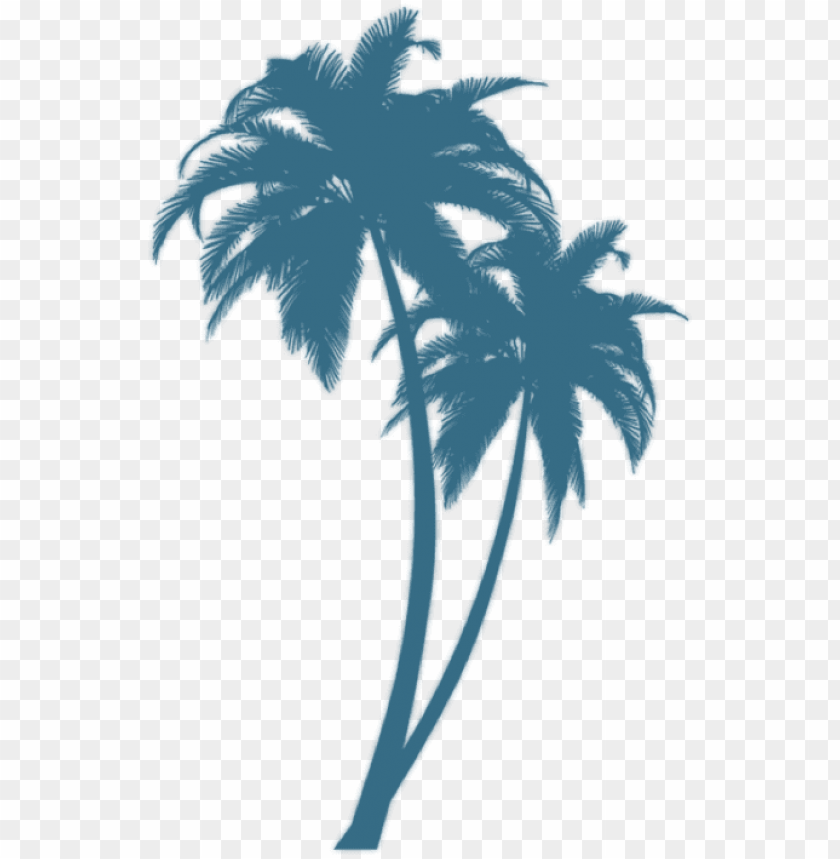 free PNG turquoise palm - palm tree silhouette PNG image with transparent background PNG images transparent
