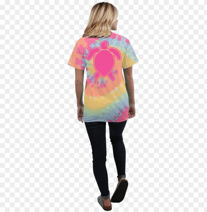free PNG turtle washed logo tie dye short sleeve t-shirt - shirt PNG image with transparent background PNG images transparent
