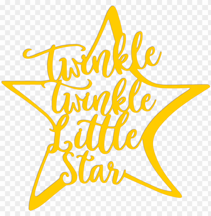 twinkle twinkle little star metal art - calligraphy PNG image with  transparent background | TOPpng
