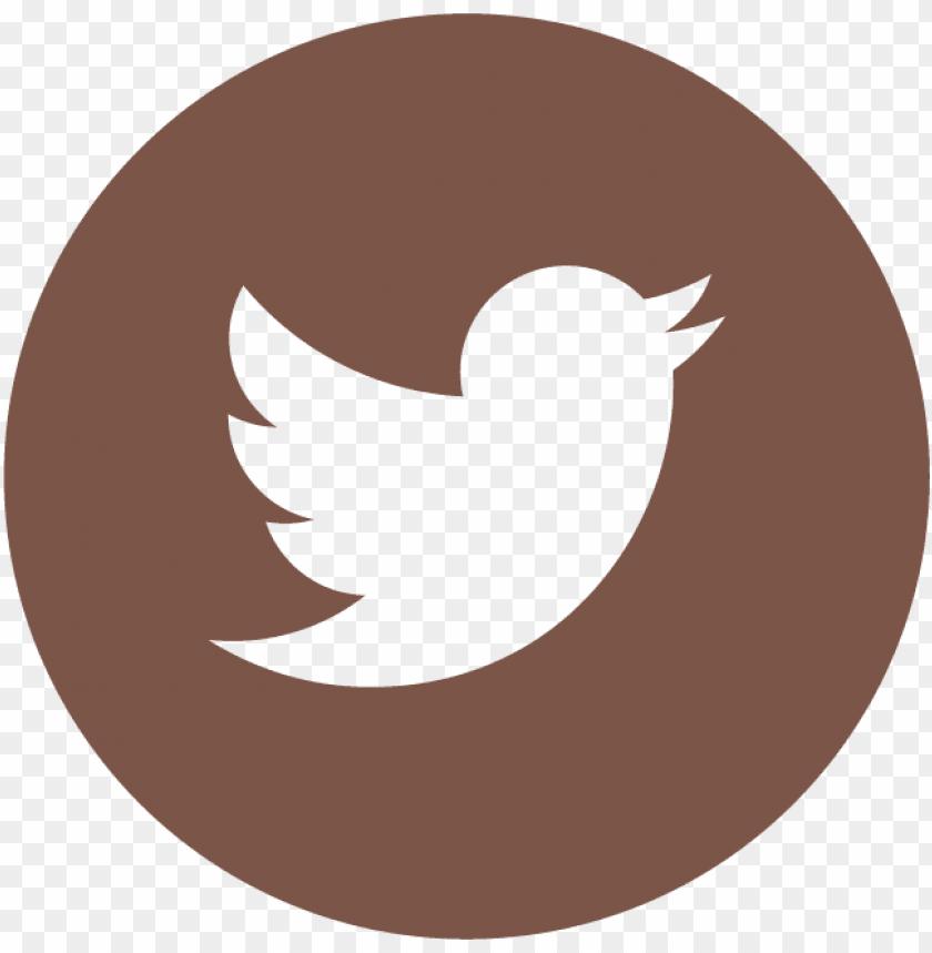 free PNG twitter icon circle logo brown - twitter circle icon vector png - Free PNG Images PNG images transparent