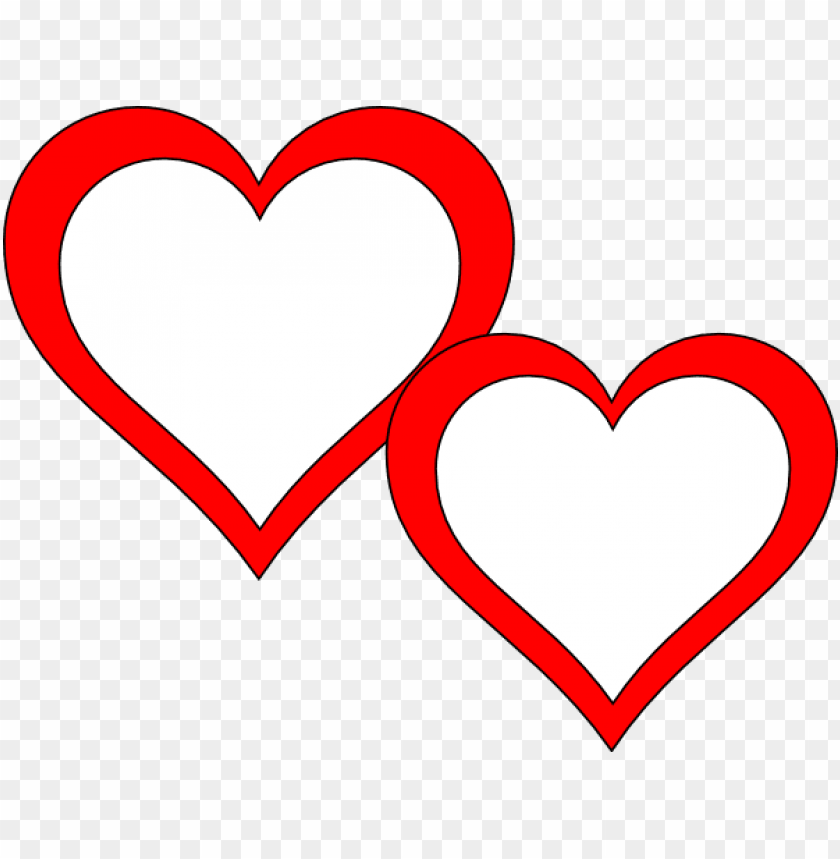 free PNG two hearts touching clip art - two heart frame PNG image with transparent background PNG images transparent