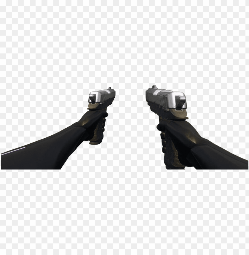 free PNG two types of dual pistols first person angles free - assault rifle PNG image with transparent background PNG images transparent