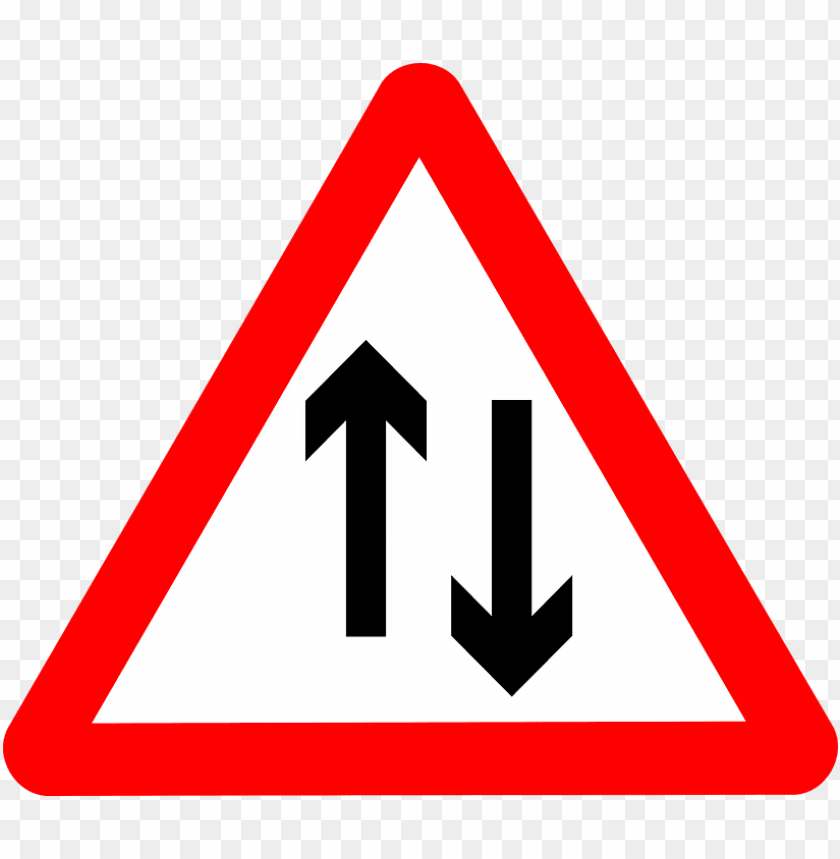 free PNG Download two way road warning road sign png images background PNG images transparent