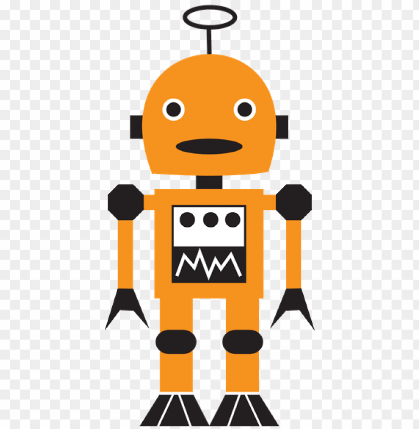 Two Yellow Robots Robot Small Yellow People Two Robo