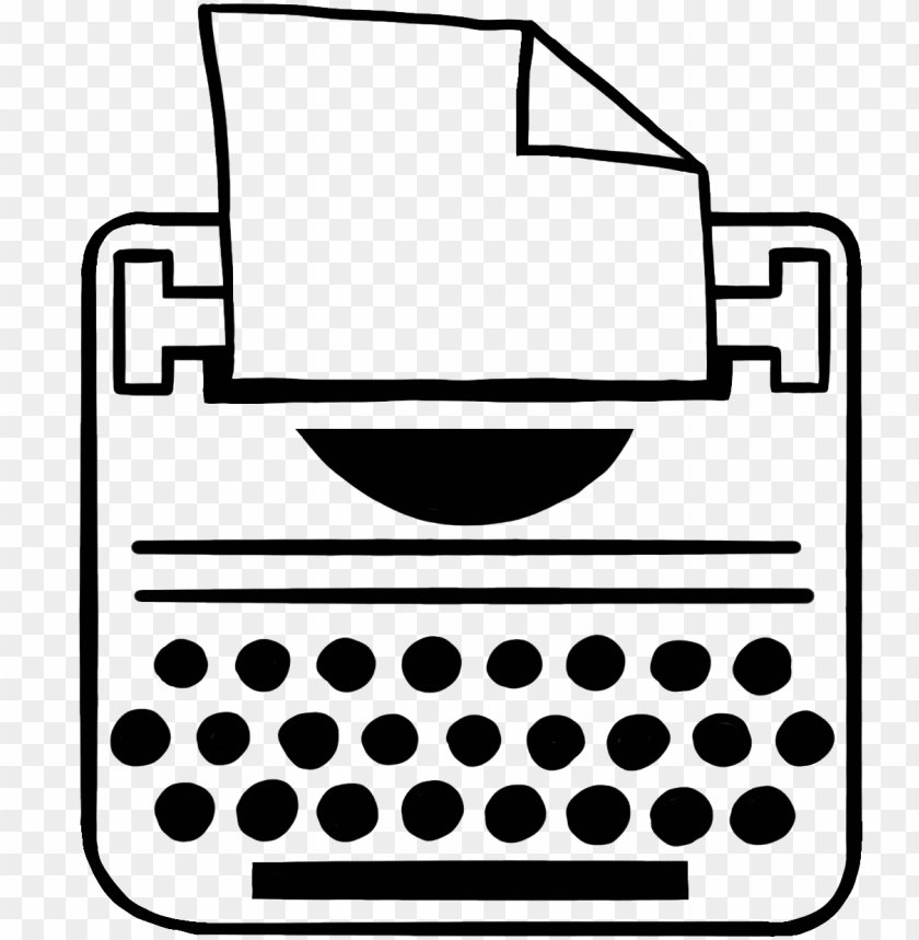 free PNG typewriter - line art PNG image with transparent background PNG images transparent