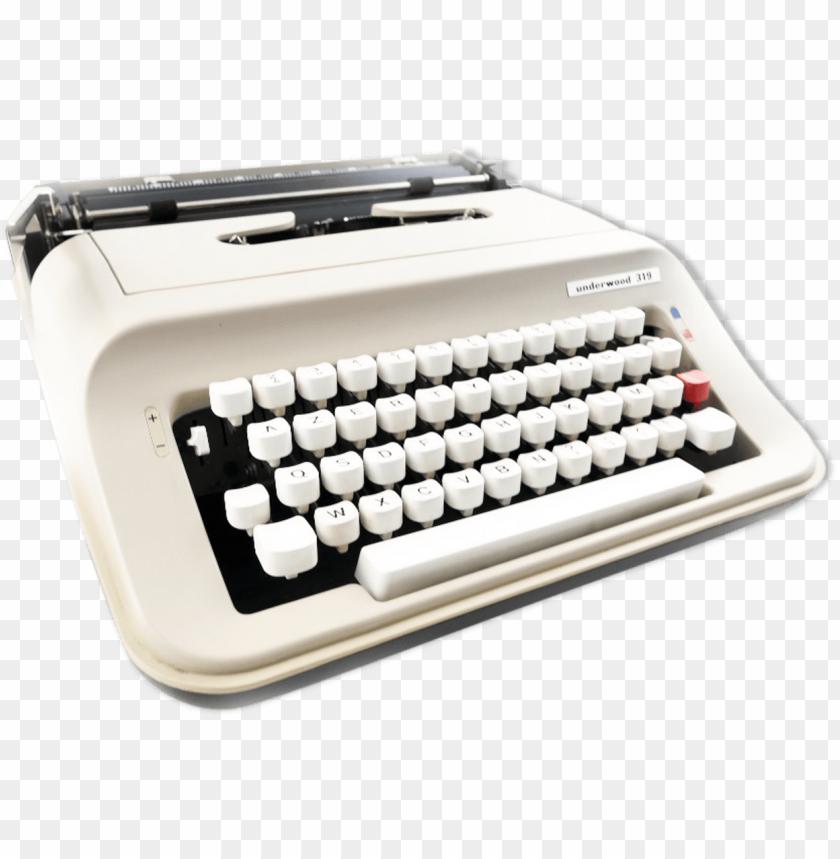 free PNG typewriter underwood 319 beige and black vintage revised - olivetti lettera PNG image with transparent background PNG images transparent