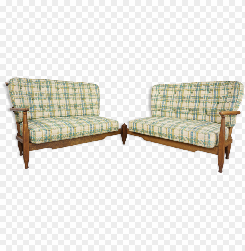 free PNG uillerme and chambron corner sofa 50s 60s - couch PNG image with transparent background PNG images transparent