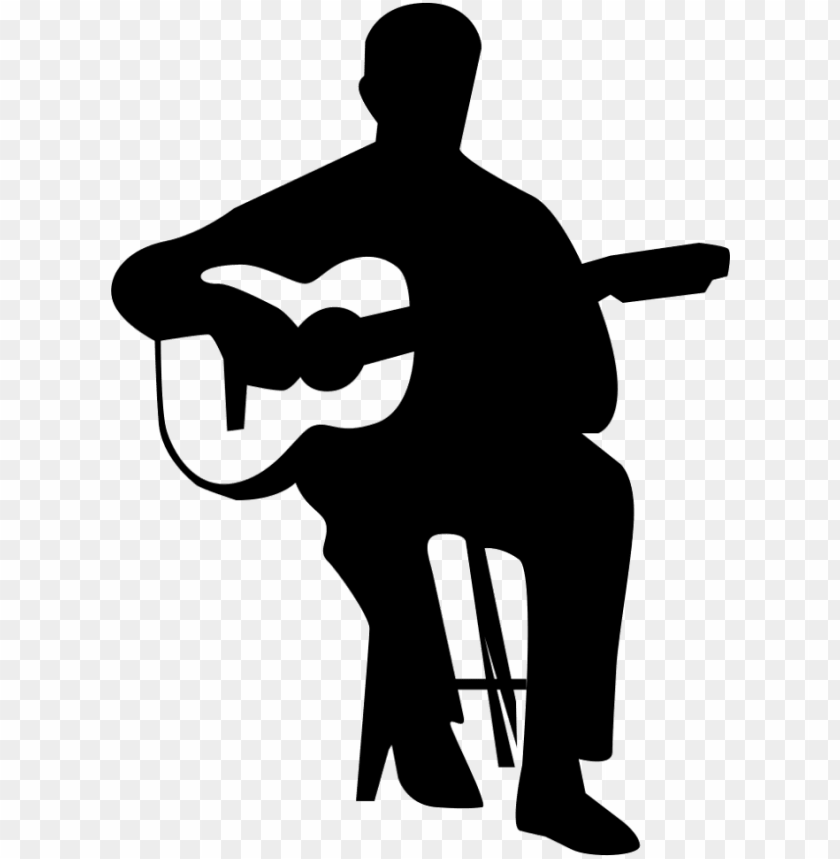 free PNG uitar player png - guitar player silhouette vector PNG image with transparent background PNG images transparent