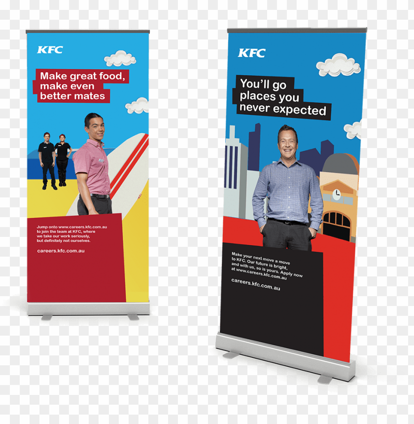 free PNG ull up banners kfc - banner PNG image with transparent background PNG images transparent