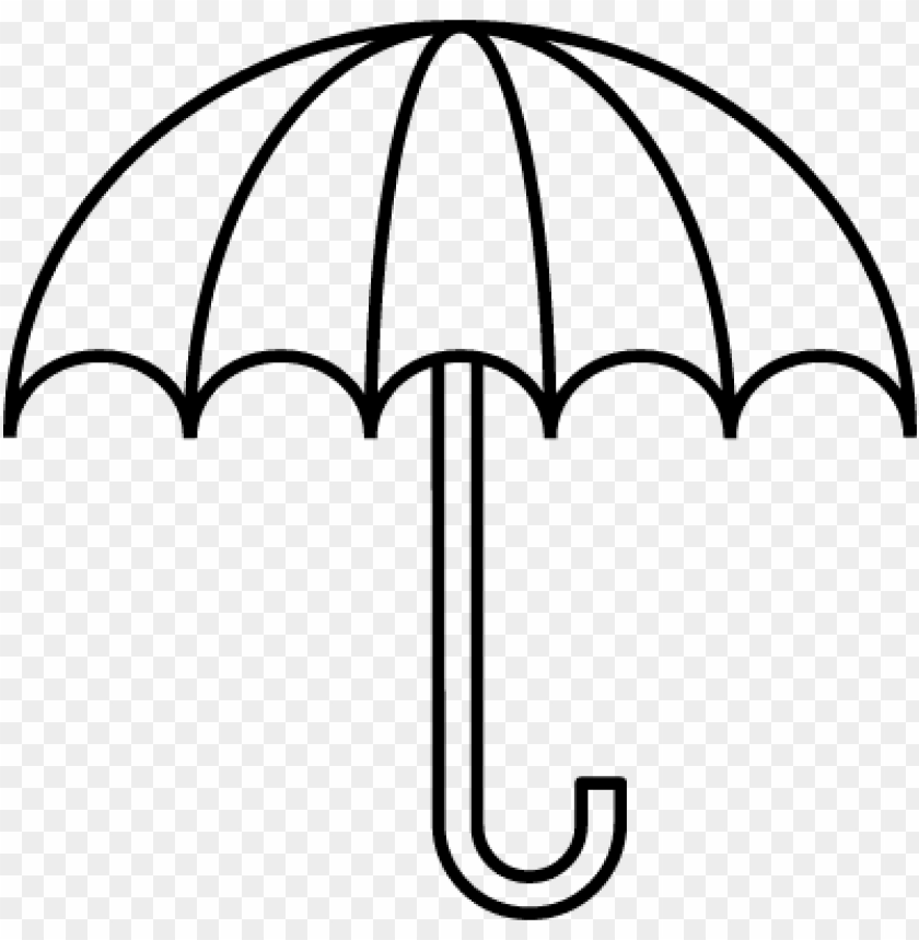free PNG umbrella clipart black and white - outline pictures of umbrella PNG image with transparent background PNG images transparent