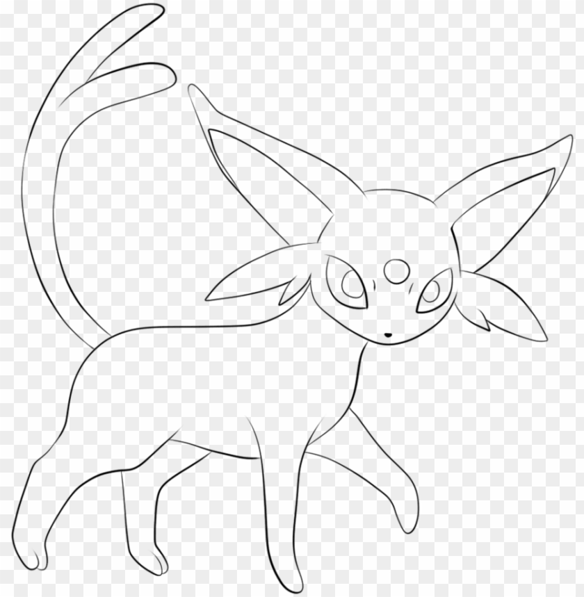 Umbreon Drawing At Getdrawings - Pokemon Coloring Pages Eevee Evolutions  Espeo PNG Image With Transparent Background TOPpng