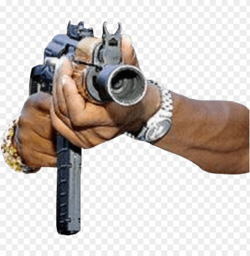 free PNG un in hand psd - hand with gun PNG image with transparent background PNG images transparent