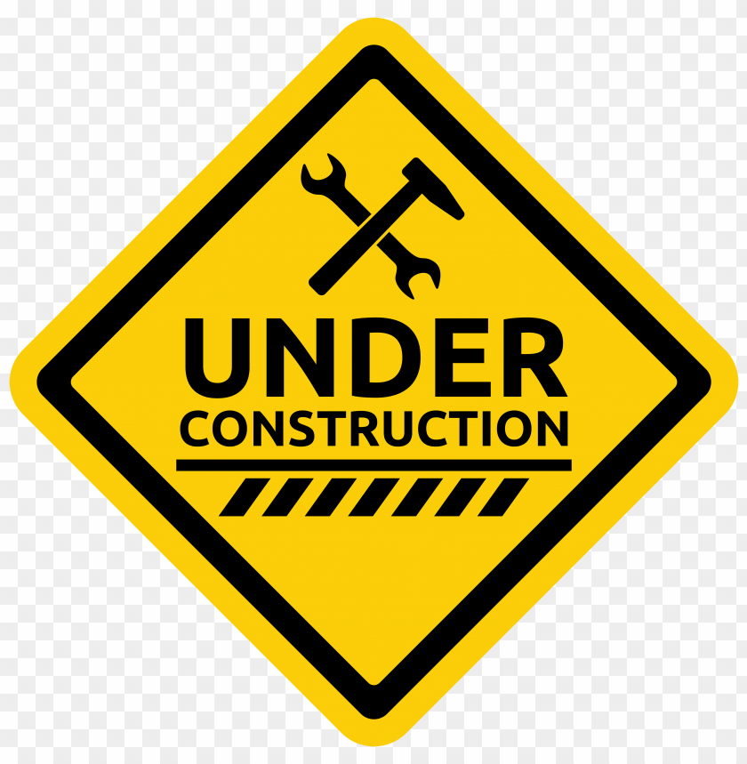 free PNG Download under construction warning sign clipart png photo   PNG images transparent