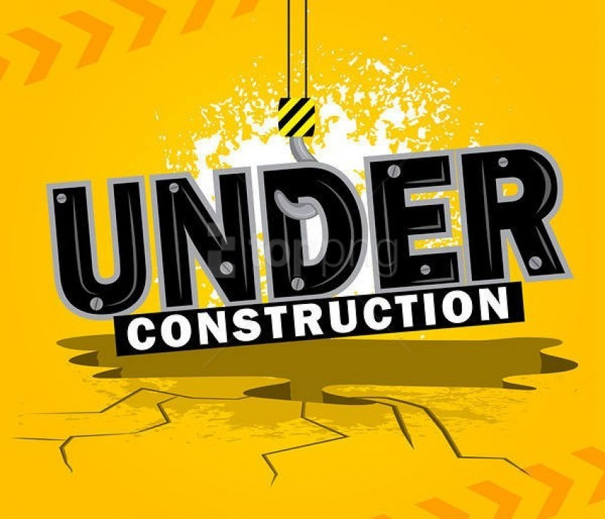 free PNG under construction yellow background best stock photos PNG images transparent