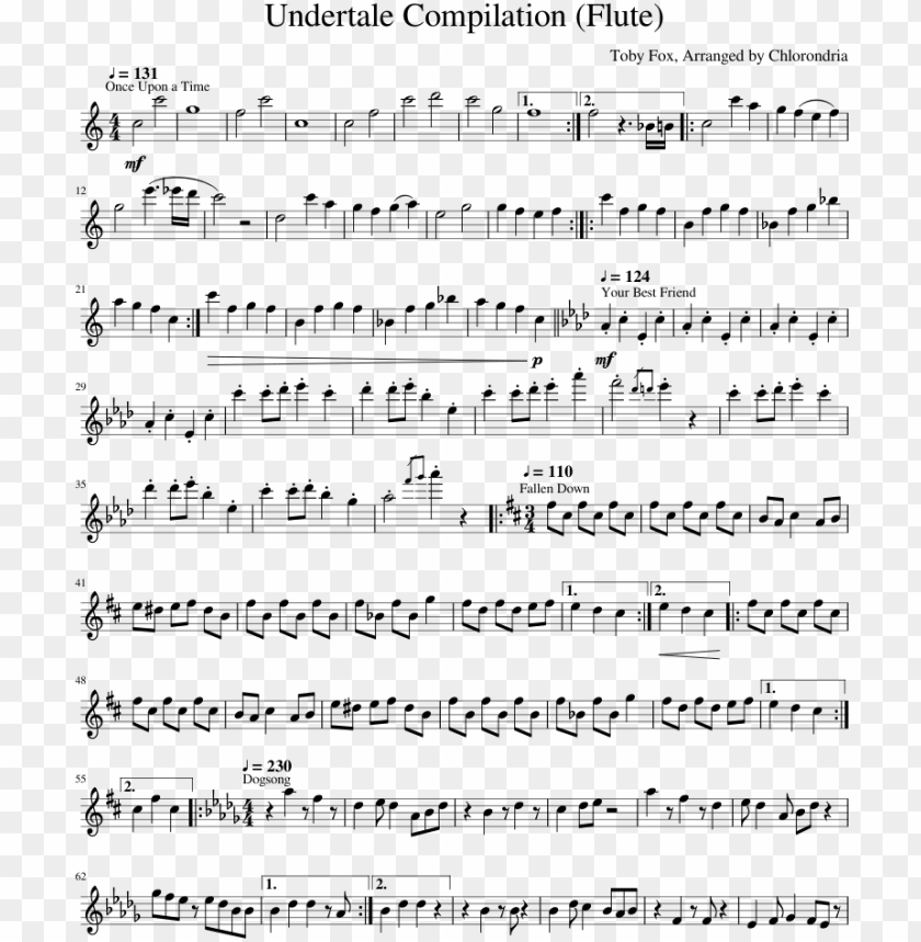 free PNG undertale compilation sheet music for flute download - steven universe songs trombone PNG image with transparent background PNG images transparent