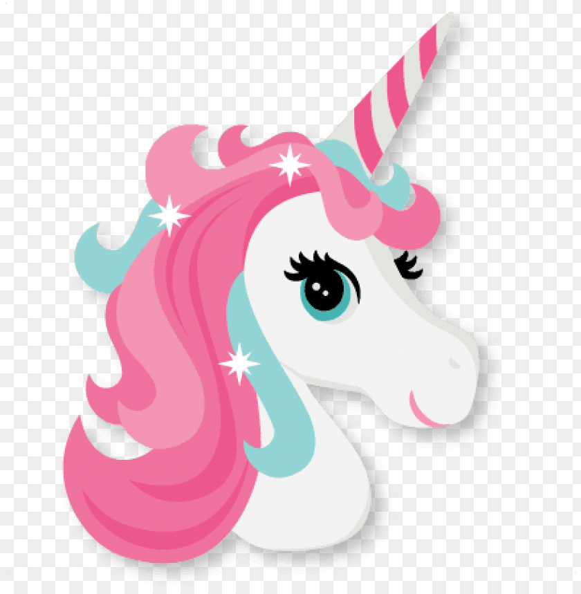 free PNG unicorn head cute unicorn svg cut file scrapbook cut - unicorn head clipart free PNG image with transparent background PNG images transparent