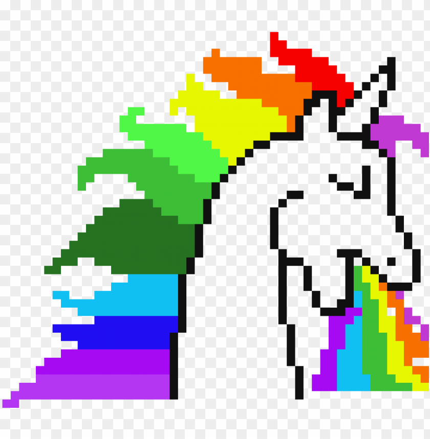 Unicorn Minecraft Pixel Art Png Image With Transparent