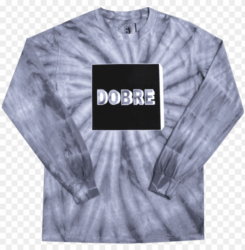 free PNG unisex box logo tie dye long sleeve - long-sleeved t-shirt PNG image with transparent background PNG images transparent