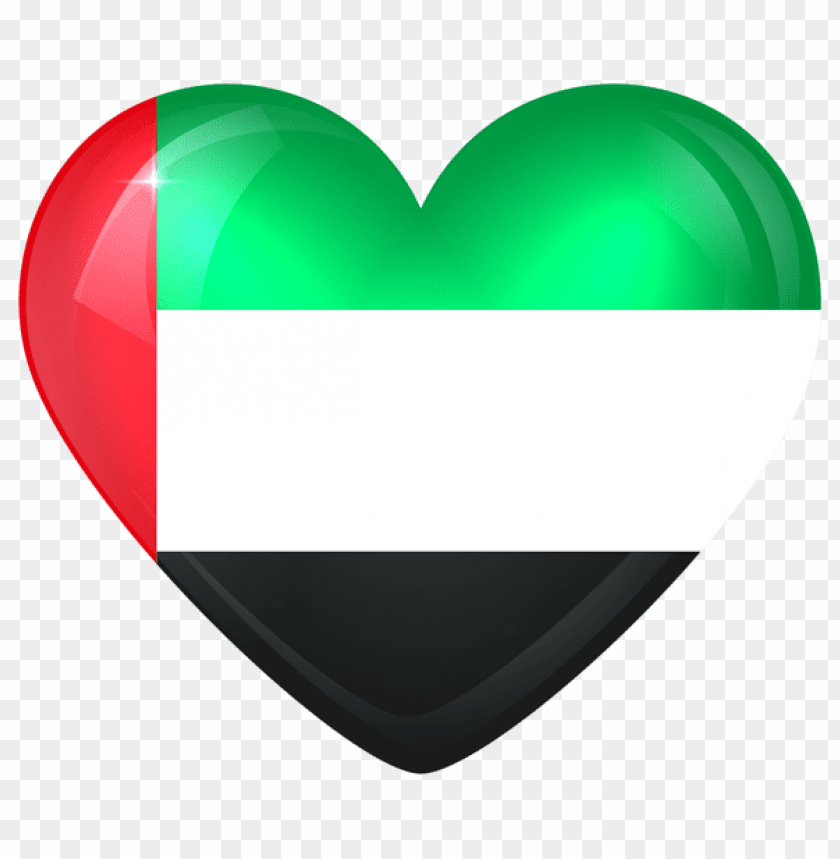 free PNG Download united arab emirates large heart flag clipart png photo   PNG images transparent