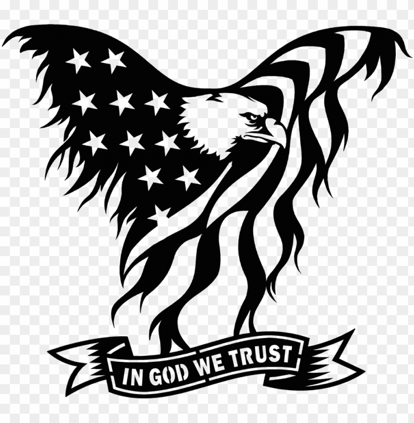 free PNG united states clipart american flag eagle - eagle flag in god we trust PNG image with transparent background PNG images transparent