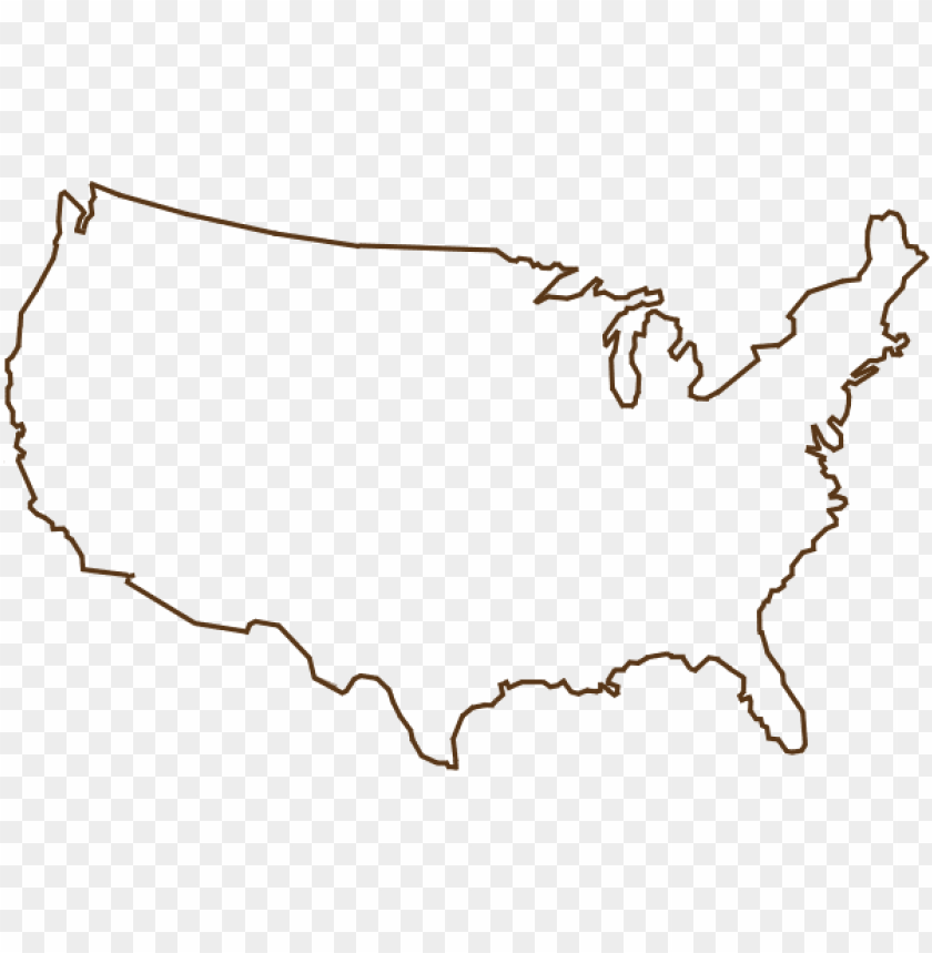 free PNG united states outline png - usa map outline sv PNG image with transparent background PNG images transparent