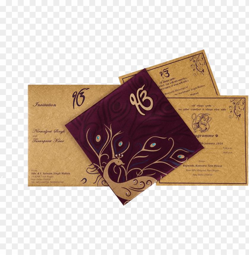 Unjabi Indian Wedding Invitation Cards Punjabi Wedding Card Designs Png Image With Transparent Background Toppng