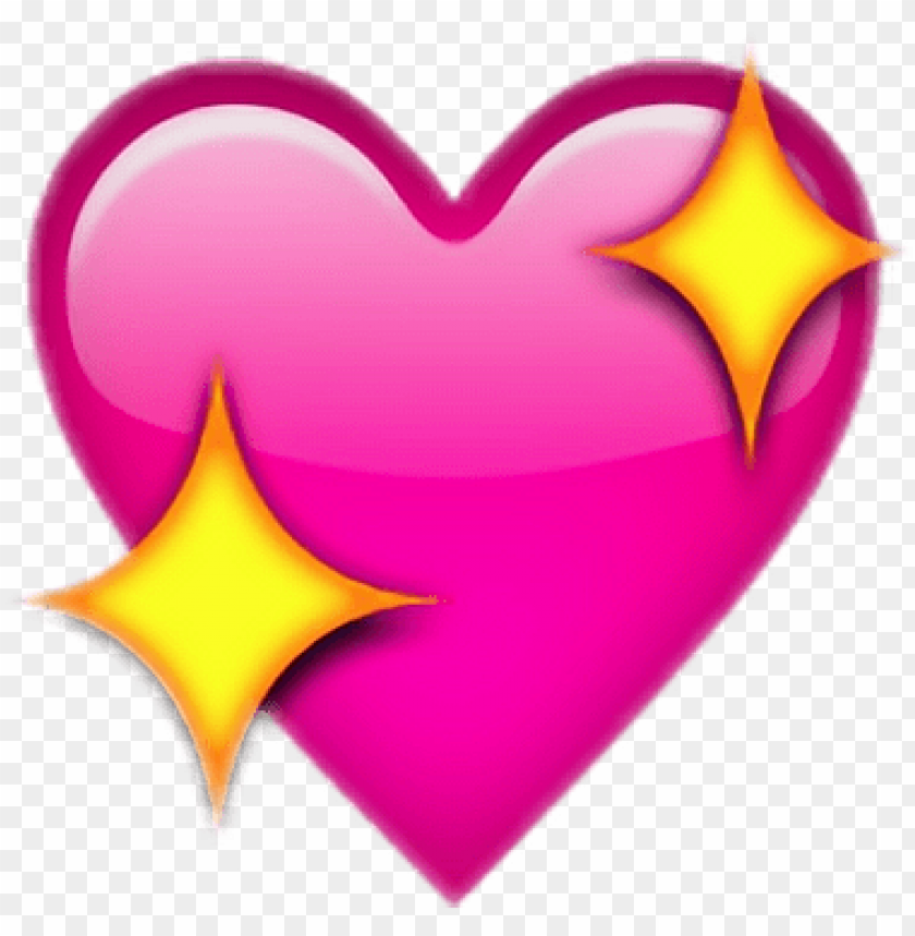 free PNG upscale-244851507018212 - sparkle heart emoji PNG image with transparent background PNG images transparent