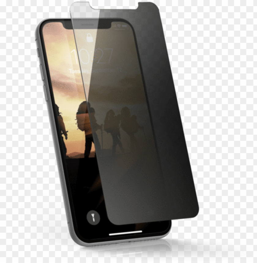 free PNG urban armor gear iphone xs / iphone x privacy tint - iphone xs screen protector PNG image with transparent background PNG images transparent
