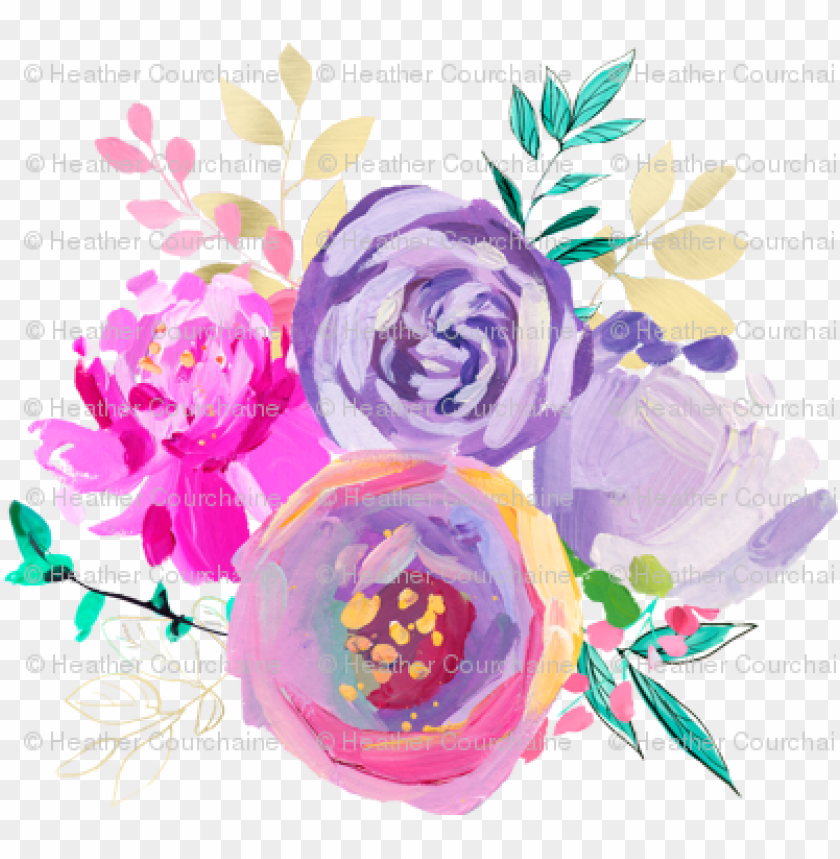 """free PNG urple and gold floral bouquet 1 6"""" back - purple and gold floral clip art PNG image with transparent background PNG images transparent"""