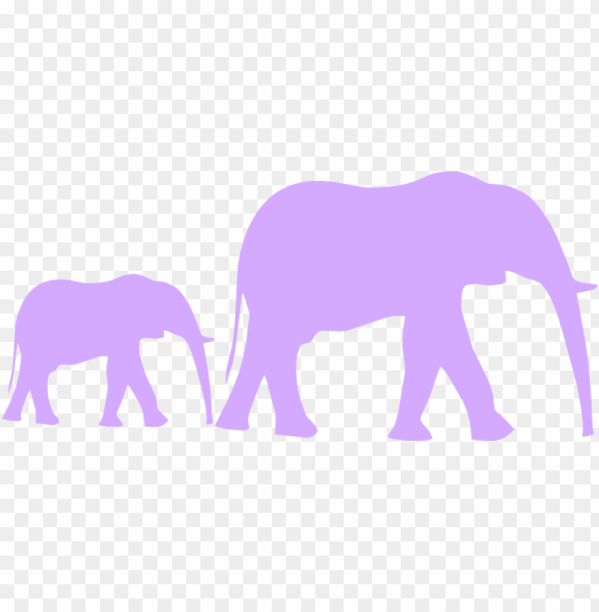 free PNG urple baby shower elephant mom and baby vector clip - silhouettes clipart african animal silhouette PNG image with transparent background PNG images transparent