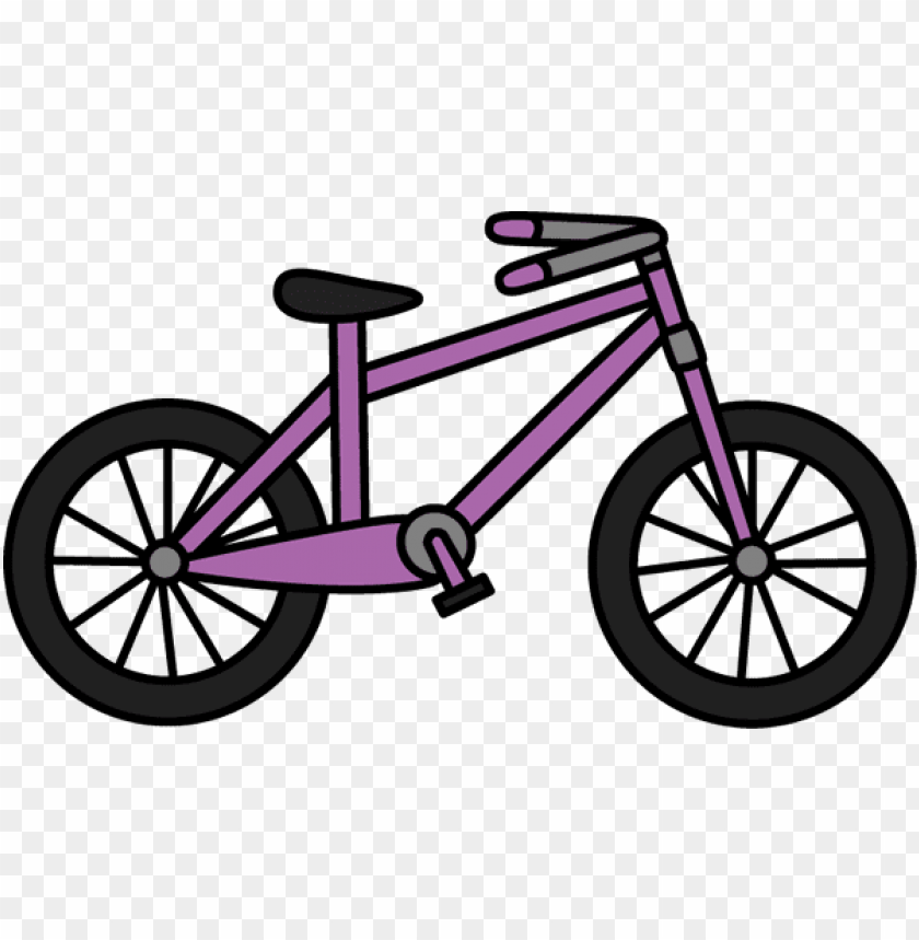 free PNG urple bike clipart clipart library stock - ride a bicycle cartoo PNG image with transparent background PNG images transparent