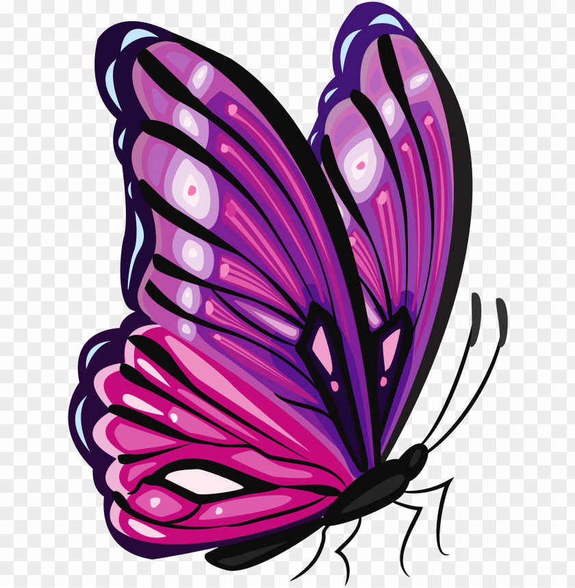 free PNG urple butterfly png clipart picture - purple butterfly png clipart PNG image with transparent background PNG images transparent